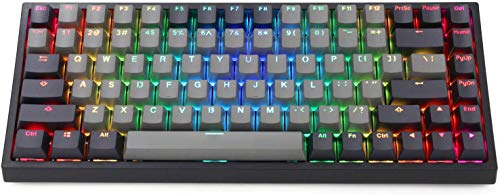 EPOMAKER EP84 84-Key RGB Hotswap Wired Mechanical Gaming Keyboard with PBT Dye-subbed Keycaps for Mac/Win/Gamers (Gateron Black Switch, Grey Black)