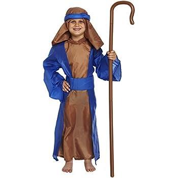 Disfraz de Pastor Pastorcillo Moisés Navidad Talla 7-9 años ...