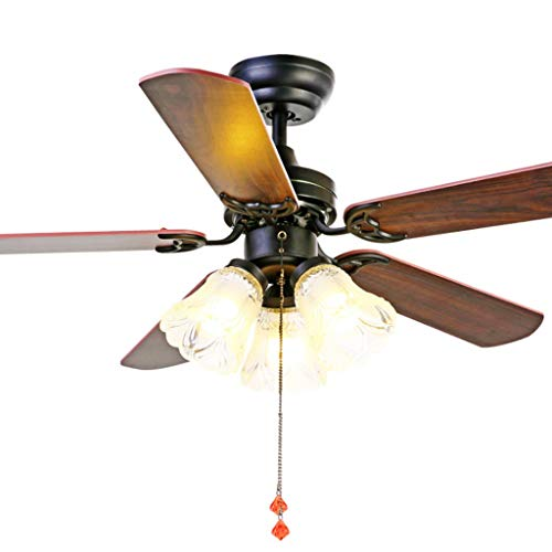 Ventilador de techo Stumm de 36 pulgadas, ventilador interior de metal, ventilador de techo moderno inteligente, luz de 5 hojas, mando a distancia (tamaño: 36 pulgadas)