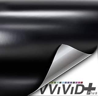 VViViD+ Satin Black Premium Adhesive Vinyl Wrap Film (1ft x 5ft)
