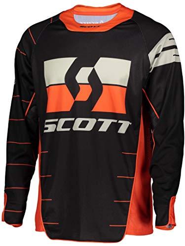 Scott Enduro MX Motocross Jersey/DH Fahrrad Trikot schwarz/orange 2020: Größe: M (48/50)