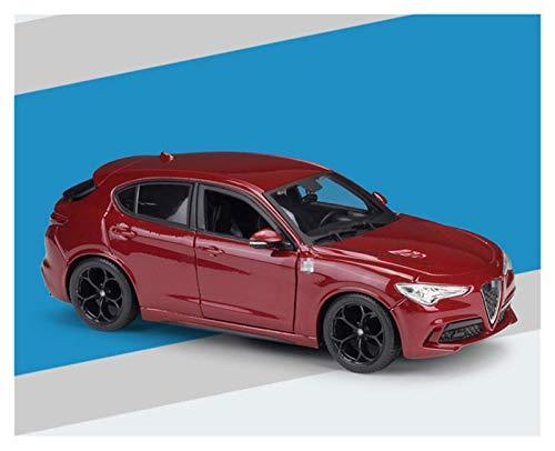 BECCYYLY Diecast Modelo Simulación de automóviles 1:24 para Alfa para Romeo para Stelvio SUV Diecast Aleación Modelo de automóvil Modelo Diecast Vehículo para Boys Toys Collection en Caja wmpa