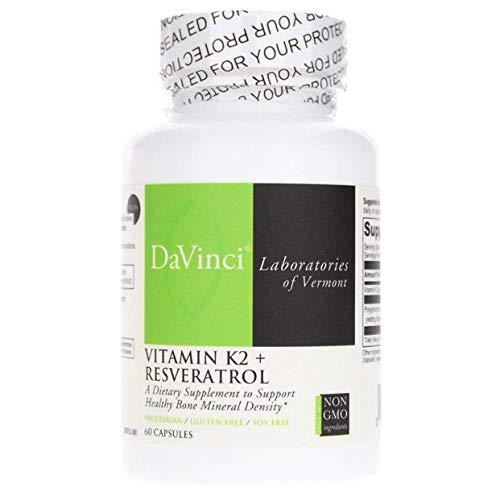 Davinci Labs - Vitamin K2 + Resveratrol, 60 Capsules