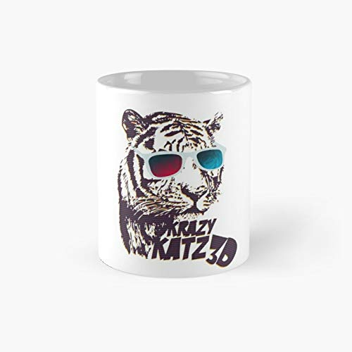 Crazy Katz 3d Classic Mug For Kids, Fathers Day, Mothers Best Gift Family And Your Friends, Yourself, Funny Coffee Mugs 11 Oz