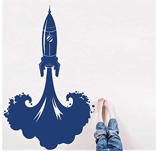 Rocket Ship Wandtattoos Raumschiff Raumdekor Wandaufkleber für Jungen Schlafzimmer Spielzimmer Kinderzimmer Dekoration Vinyl Art Wandbild 57X36CM