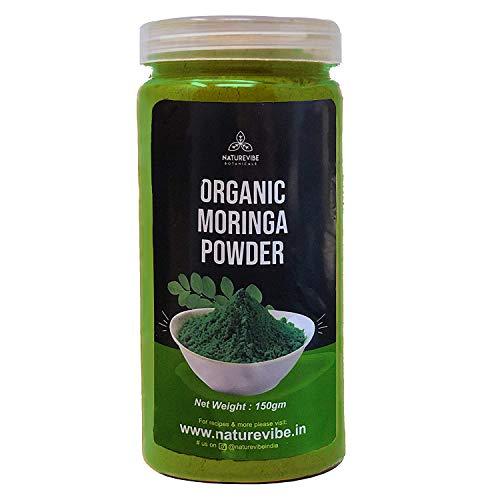 Naturevibe Botanicals Organic Moringa Leaves Powder (150g) I Gluten Free | Superfood | Antioxidant