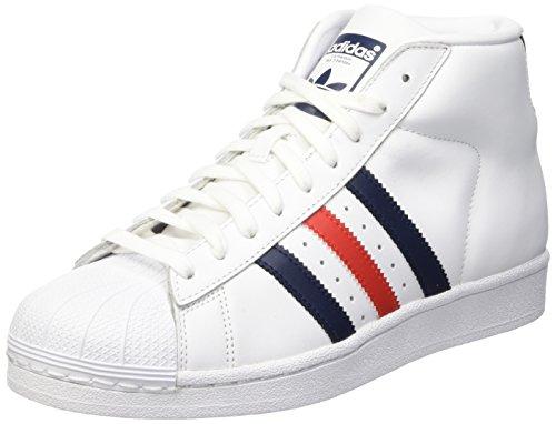 Adidas Promodel, Zapatillas Altas Hombre, Ftwwht/Conavy/Red, 44