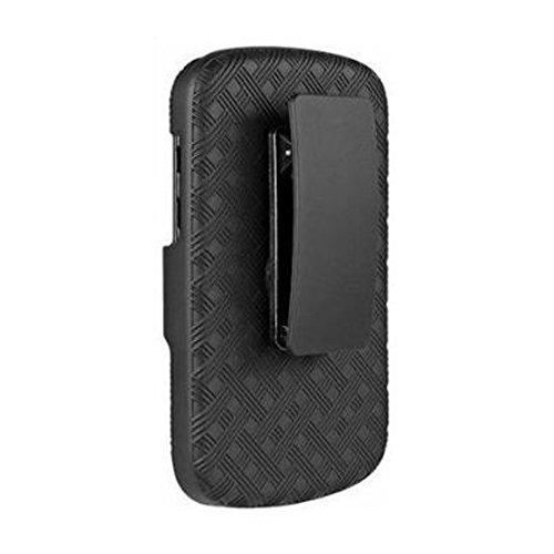 Amzer Shellster Schutzschale & Holster für BlackBerry Q10 Schwarz