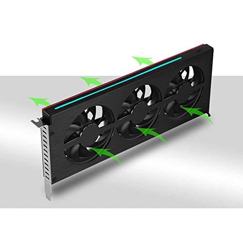 Refroidisseur de carte graphique, refroidisseur de carte graphique RVB, refroidisseur de carte vidéo pour boîtier en aluminium au magnésium, ventilateur de radiateur, lumière RVB à double mode avec