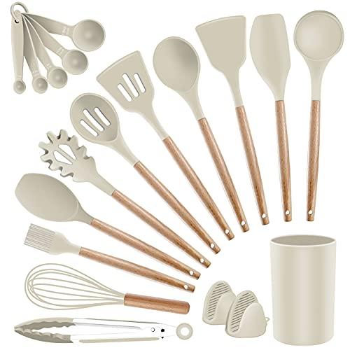 Silicone Kitchen Utensils Set Cooking Utensils - SZBOB Heat Resistant/Non-stick/Non Toxic/BPA Free...
