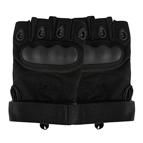 Contever® Noir Gants demi-doigts Court antidérapant Gants pour Sport Fitness Vélo Pêche Randonnée Chasse (Taille M ~ XL)