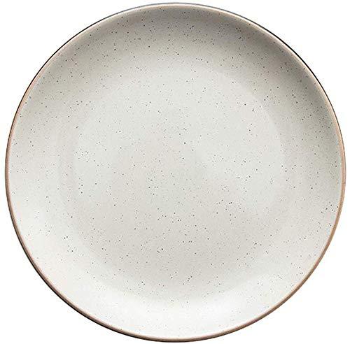 Bowl Platte Startseite West Platte Kuchen Dessertteller Geschirr Flache Platte Steak-Platte Frühstück Keramik Teller Teller Teller Salatteller Geschirr Geschenk ( Color : White , Size : 26*26*2.5CM )