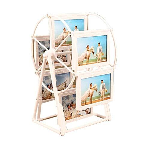 Marco giratorio de la foto de la rueda de la fortuna, decoración del escritorio de la mesa del marco de la forma del molino de viento retro y el álbum decorativo de la guardería para niños