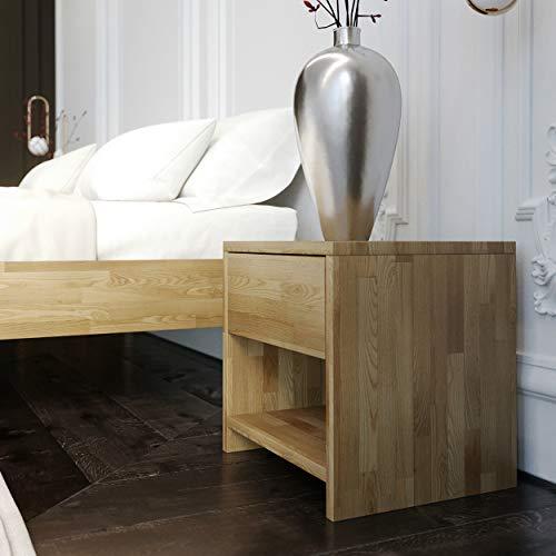 Krok Wood Nachttisch Julia aus Massivholz 40x40x40 cm (in Eiche)