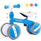 Peradix Baby Balance Bikes Adjustable Bicycle | Riding Toys for 10 Months Old Toddlers Children Boys Girls | No Pedal Silent Wheels 1 2 3 Year Old Infant Toddler Bicycle | Best First Birthday Gift