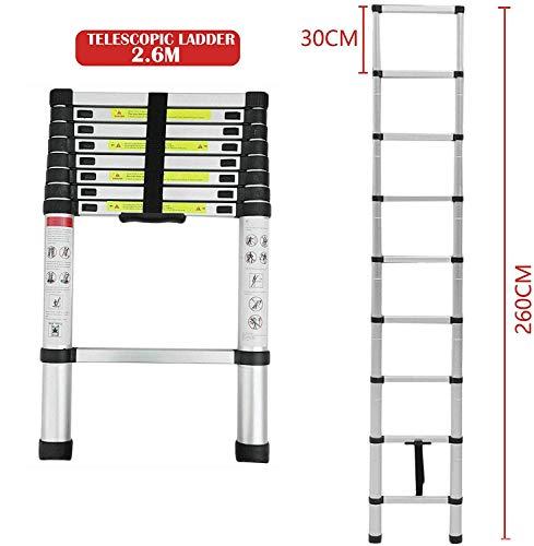 Telescopic Ladder Extension Extendable 2.6M//3.2M//3.8M//5M Multi Purpose Aluminium