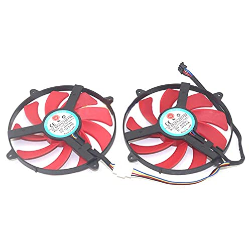 Temperature control dual fan for AMD FDC10U12S9-C DC12V 0.45A graphics card cooling fan