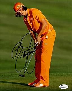 Rickie Fowler Autographed Golf (Orange Vertical) 8x10 Photo - JSA
