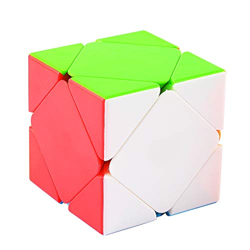 TOYESS Skewb Cube Stickerless, Smooth Speed Cube, Professional Puzzle Cube, Brain Teasers Toys for Kids & Adults