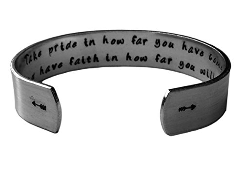 Take Pride in How far You Have Come and Have Faith in How far You Will go. | Graduation Gift | Jewelry in