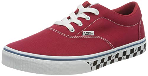 Vans Doheny Zapatillas, Sneaker Unisex Niños, Check Sidewall Chili Pepper/White, 30.5 EU