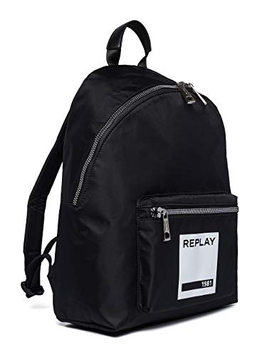 Replay Unisex-Erwachsene Fu3062.000.A0021B Rucksack Schwarz (Black)