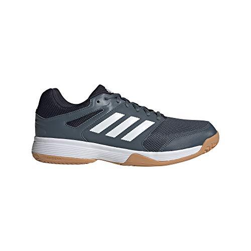 adidas Herren Speedcourt Volleyball Shoe, Legacy Blue/Cloud White/Legend Ink, 38 2/3 EU