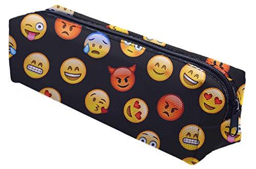 Ferocity Astuccio Matita Caso Portapenne Beauty Case Pennarelli ed Accessori Scuola Emoji Black [008]