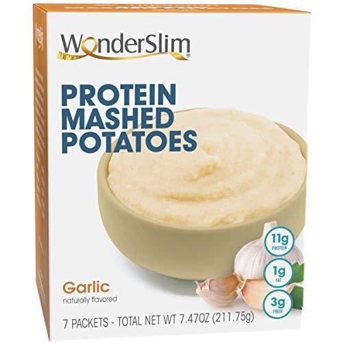 WonderSlim Instant Mashed Potatoes, Garlic - Low Fat, 11g Protein, 3g Fiber (7ct)