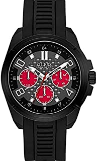 Guess Mens Quartz Watch, Analog Display and Silicone Strap W1050G2