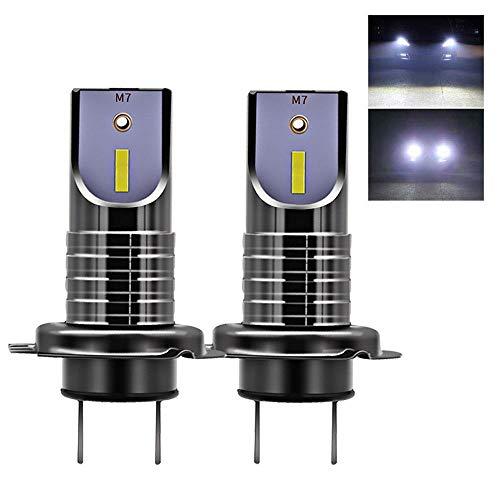 Tenlso Nueva H7 LED Faro Bombillas, Impermeable 26000LM 6000K Anti-Parpadeo LED Conversión de Faros, Luz Blanca Fría, Super Brillante Reemplazo de Lámpara del Automóvil Avanzada para Coche