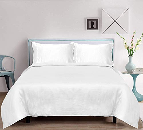 LINENWALAS 100% Organic Cotton Percale Bed Pattern Sheets Set 4PC - Soft Luxurious Cotton Bedding...