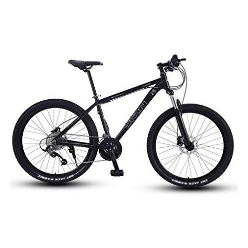 Ping Adult Mountainbike, 27,5-Zoll-Räder, Mountain Trail Bike High Carbon Steel Faltbare Outroad-Fahrräder, 21-Gang-Fahrrad mit Vollfederung MTB,Black Silver
