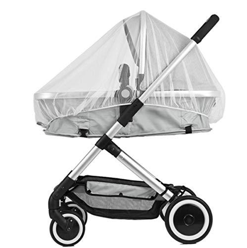 Universal Insektenschutz,Mückennetz für Kinderwagen, Insektenschutz Moskitonetz für Buggy Reisebett Universal, Feines Netz, kein Geruch, praktisches Gummiband -reißfest,Weiß