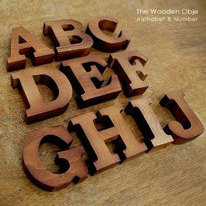 アルファベット オブジェ 数字 [A] 英字 木製 木材 木彫り 置物 装飾 飾り イニシャル [11553-A] [並行輸入品]