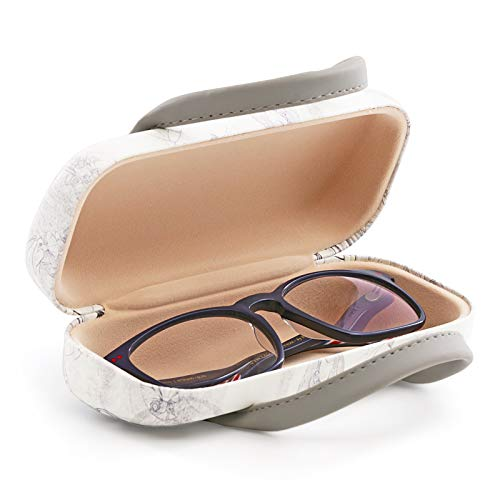 PracticDomus - Funda Rígida Universal para Gafas con Sistema de Cierre Flex y Asas Flexibles, Interior Forrado en Símil de Terciopelo. Colección Meninas