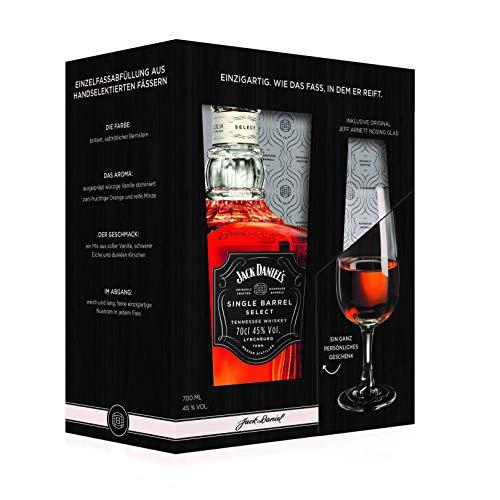 Jack Daniel's Single Barrel Geschenkset mit original Jeff Arnett Nosing-Glas - limitiert Whisky (1 x 0.7 l)