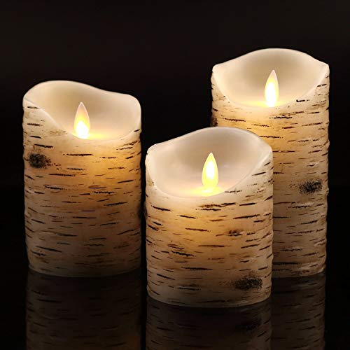 Flameless Candles with brich...