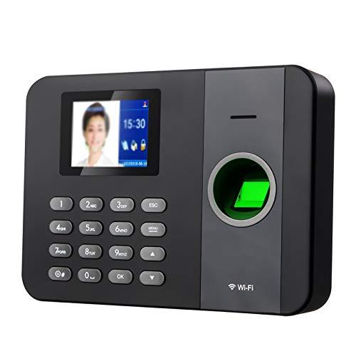 DYecHenG Zeiterfassung Smaschine Fingerprint Time Anwesenheitsmaschine Fingerabdruck-Maschinenstütze WiFi Smart Cloud Time-Anwesenheitsmaschine für Office Home (Farbe : Black, Size : 29.5x8.3x21.2cm)