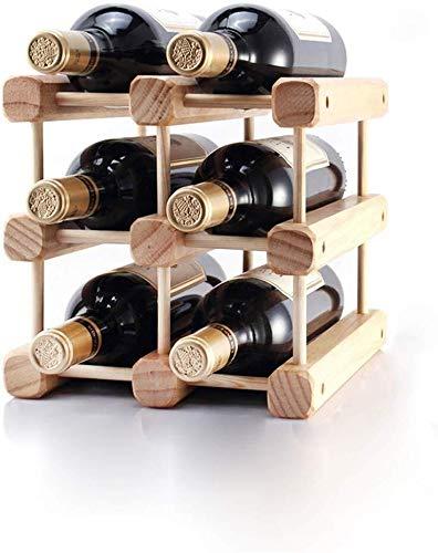 Estantería de vino Estante del vino apiladas rack de almacenamiento de estante de la botella 3 se puede apilar cabinas de estantes de botellas de vino vino apilables, de pie libre de almacenamiento en