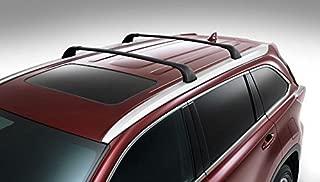 BRIGHTLINES 2014-2019 Toyota Highlander Cross Bars Roof Racks (Highlander XLE Limited & SE, Black)