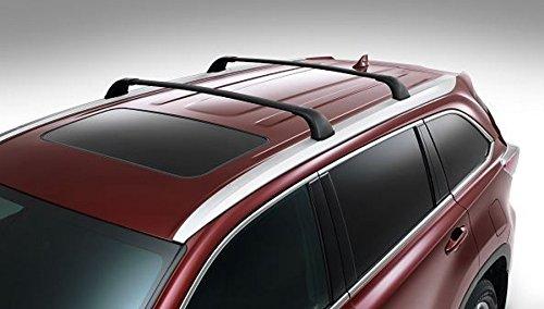 BRIGHTLINES Cross Bars Roof Racks Replacement for 2014-2019 Toyota Highlander (Highlander XLE Limited & SE, Black)