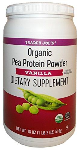 Organic Pea Protein Powder Vanilla Dietary Supplement