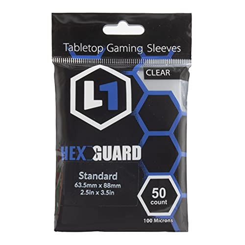 HexGuard Standard Tabletop Gaming Sleeves (50 Sleeves) | Compatible with Select Board Games, Standard TCG's, and Sports Cards