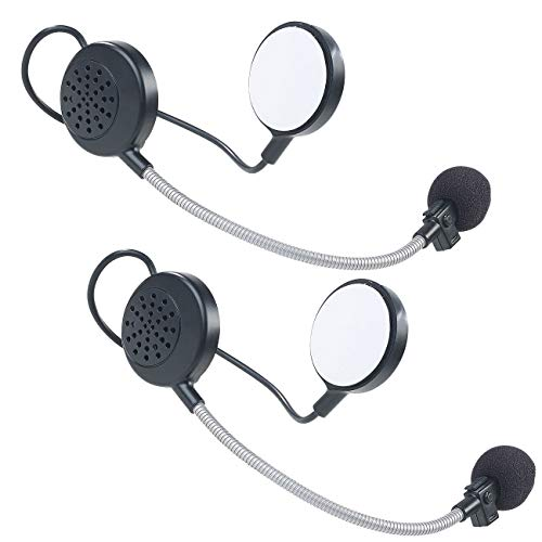 Callstel 2er-Set Intercom-Stereo-Headsets für Motorrad-Helm, Bluetooth, 10 m