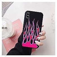 携帯電話の場合、ファッションフレイムパターンの電話ケースのためにiPhone X XS MAX 11のPro XR 7 8つのSプラスSE 2020黒赤柔らかいシリコーン裏表紙 (Color : Style 6, Material : For iPhone 12 Pro)