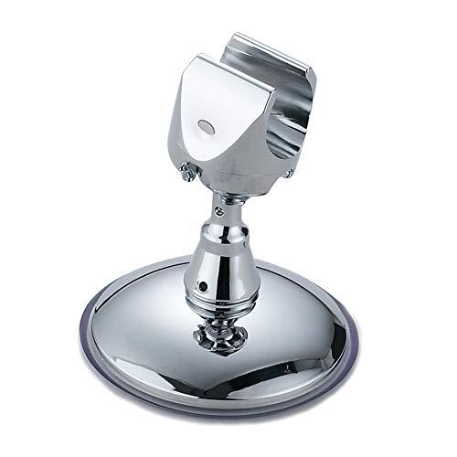 JSBVM Soporte de Cabezal de Ducha de Mano con Adhesivo de Ventosa, Soporte Ducha Pared Ajustable Giratorio de 360°, Plástico ABS Cromado