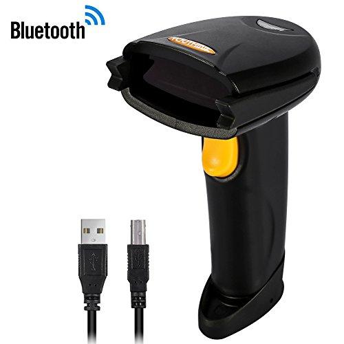 Draadloze barcodescanner, handheld laserbarcodescanner Zowel Bluetooth/USB-compatibele lasersca voor pc Laptop, winkel, markt, magazijn, bibliotheek