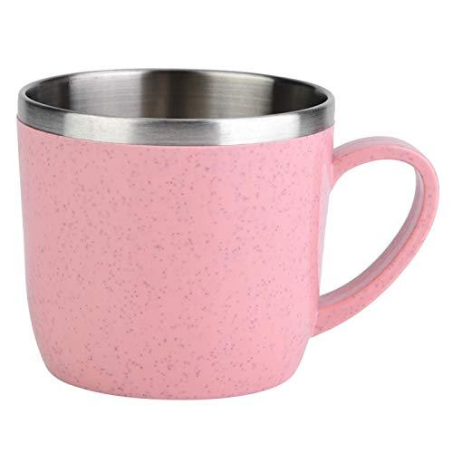 El termo de trigo súper lindo, el agua potable, el café y la leche son un carrito de té muy conveniente(Rosado)