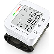 Hong S Digital Wrist Blood Pressure Monitor 99*2 Reading Memory Automatic Blood Pressure Cuffs for Home Use with Carrying Case and Large LCD Display